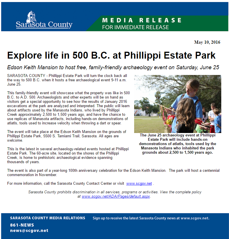 Phillippi 500 BCE press release