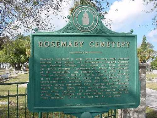 Rosemary Cemetery Sign