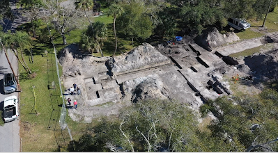 Aerial of 2020 Excavations